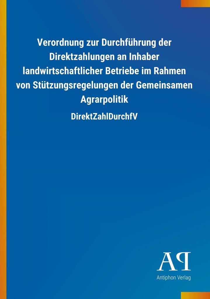 Verordnung zur Durchführung der Direktzahlungen...