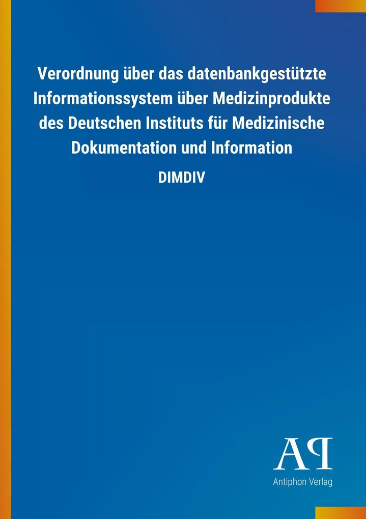 Verordnung über das datenbankgestützte Informat...