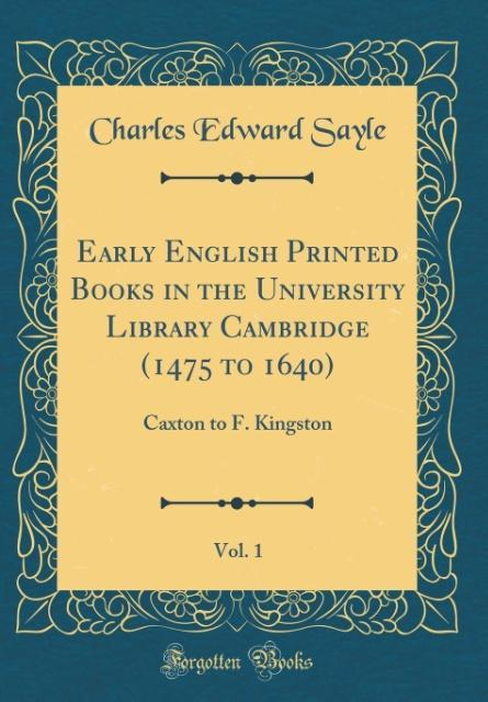 Early English Printed Books in the University L...