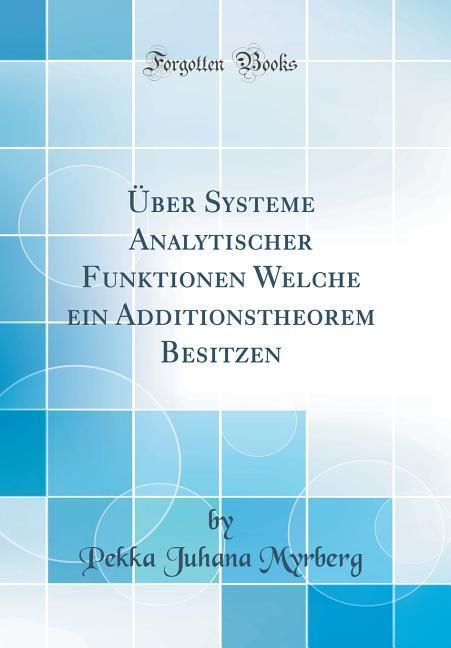 Über Systeme Analytischer Funktionen Welche ein...