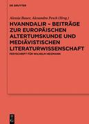 Hvanndalir - Beiträge zur europäischen Altertumskunde und mediävistischen Literaturwissenschaft