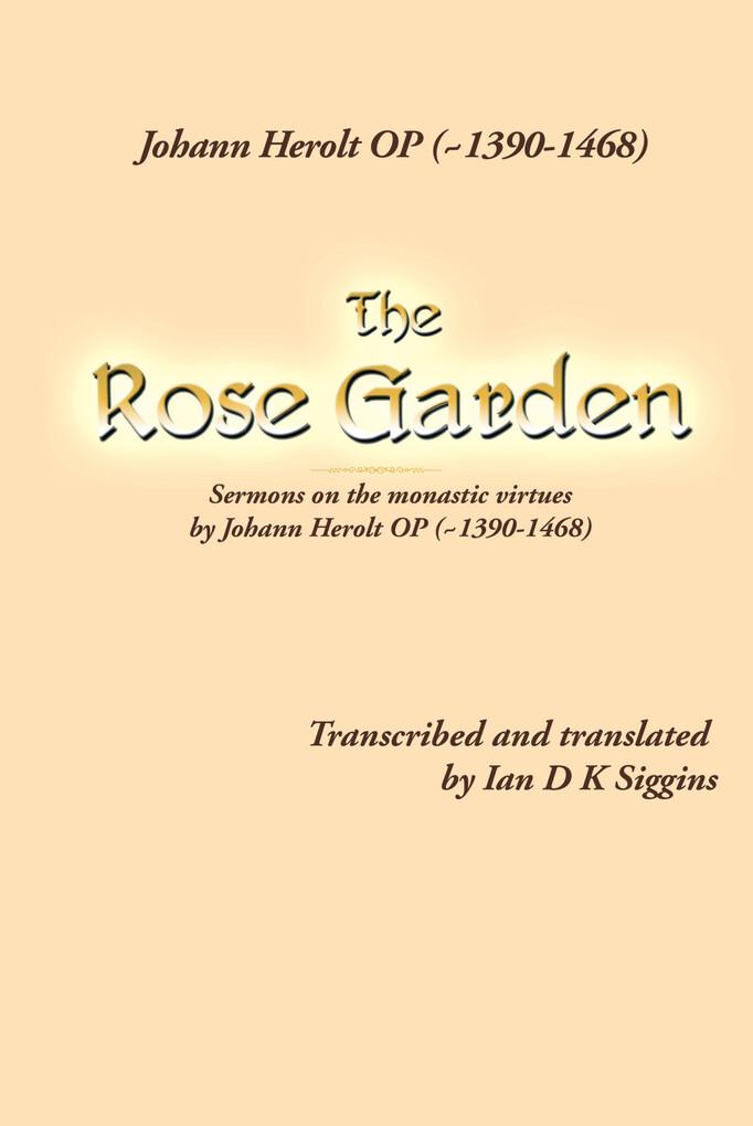 The Rose Garden als eBook Download von Ian D K ...