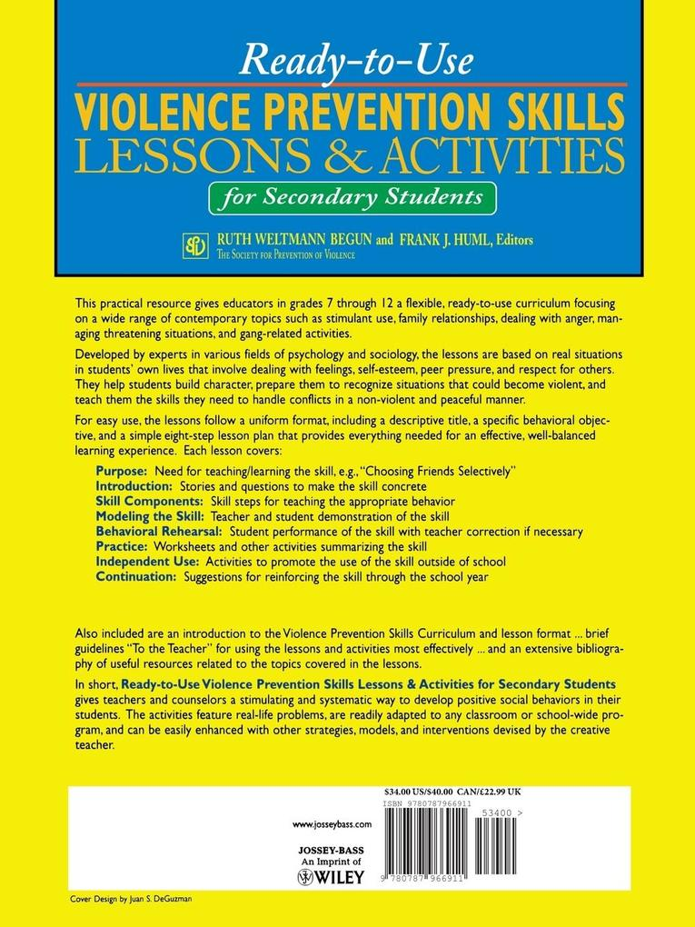 Ready-To-Use Violence Prevention Skills Lessons...