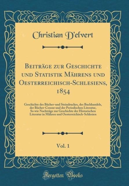 Beiträge zur Geschichte und Statistik Mährens u...