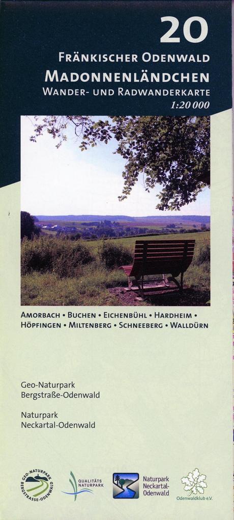 Fränkischer Odenwald - Madonnenländchen 1:20.000 als Blätter und Karten