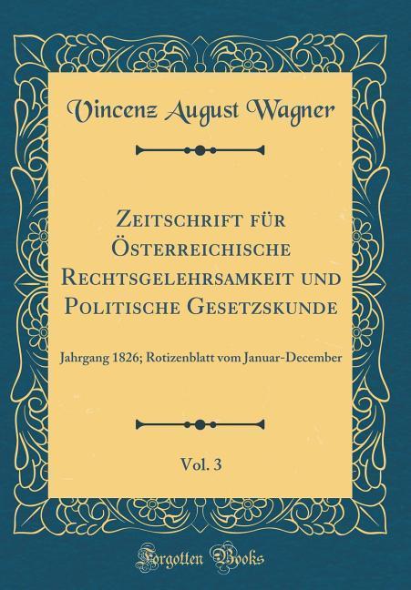 Zeitschrift für Österreichische Rechtsgelehrsam...