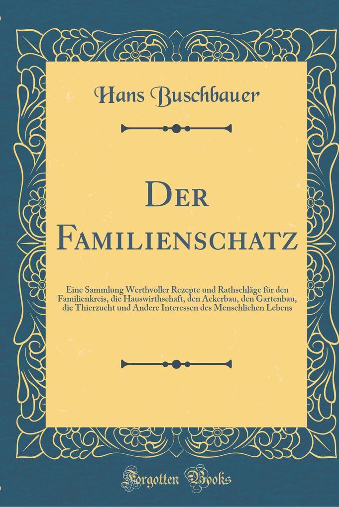 Der Familienschatz als Buch von Hans Buschbauer