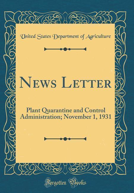 News Letter als Buch von United States Departme...
