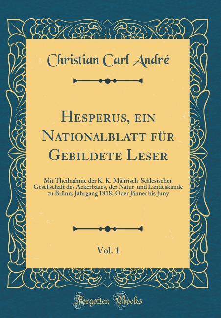 Hesperus, ein Nationalblatt für Gebildete Leser...