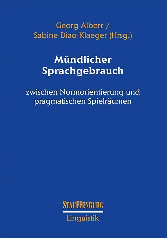 Mündlicher Sprachgebrauch als Buch (kartoniert)