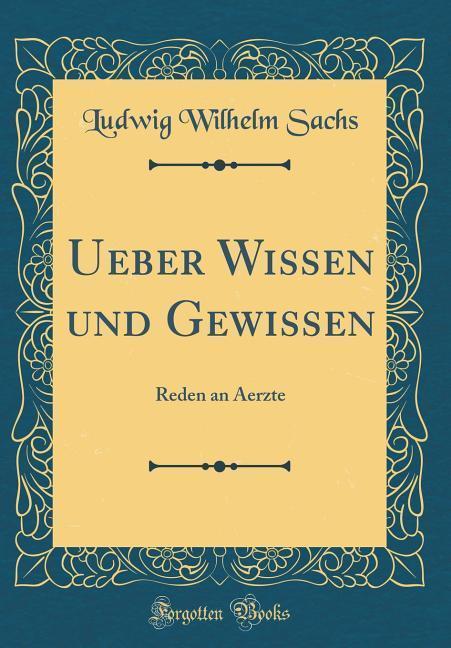 Ueber Wissen und Gewissen als Buch von Ludwig W...