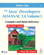 The Java' Developers Almanac 1.4, Volume 1: Examples and Quick Reference