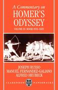 A Commentary on Homer's Odyssey: Volume III: Books XVII-XXIV