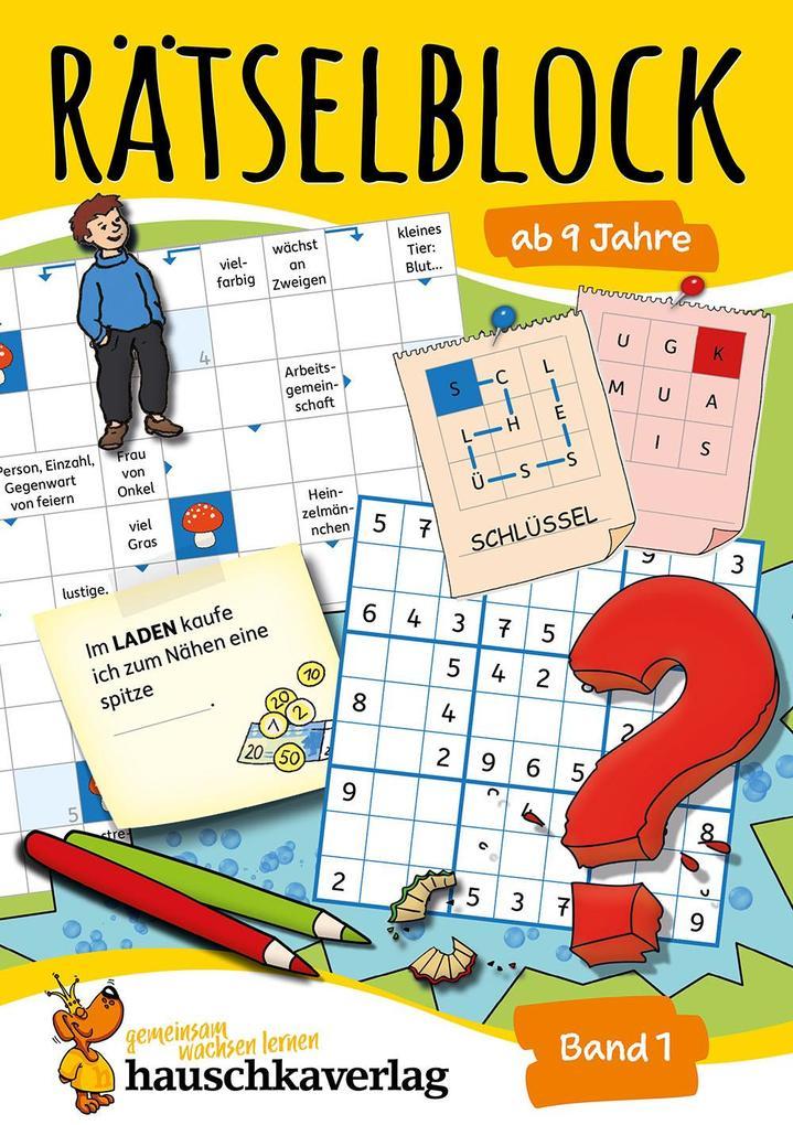 Rätselblock ab 9 Jahre, Band 1, A5-Block als Buch (kartoniert)