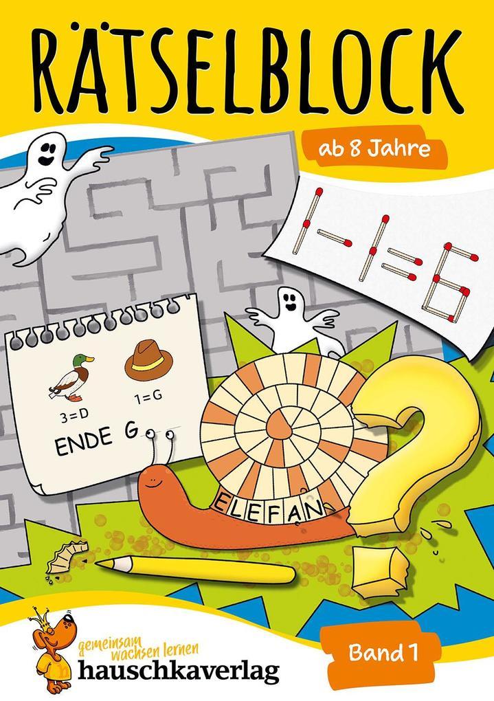 Rätselblock ab 8 Jahre, Band 1, A5-Block als Buch (kartoniert)