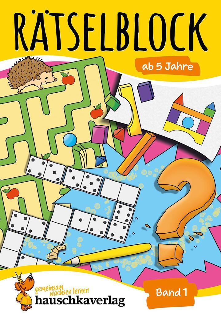 Rätselblock ab 5 Jahre, Band 1, A5-Block als Buch (kartoniert)