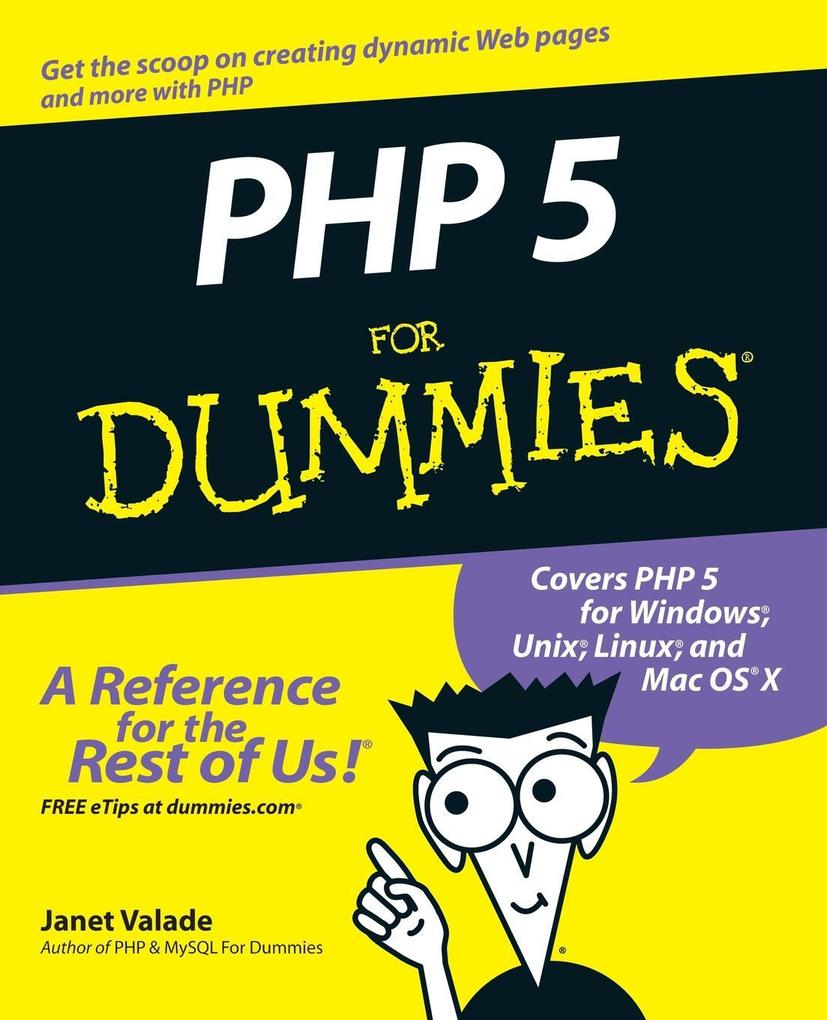 PHP 5 For Dummies als Buch von Valade