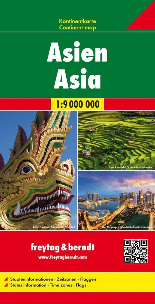 Asien, Kontinentkarte 1:9 000 000 als Buch von