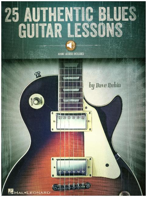 25 Authentic Blues Guitar Lessons als Buch von ...