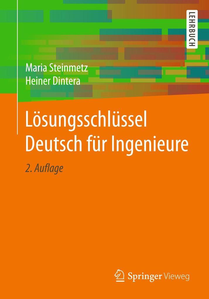 Lösungsschlüssel Deutsch für Ingenieure als eBo...