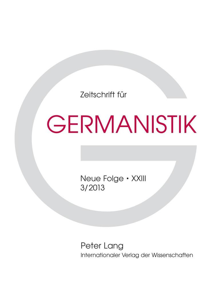 Zeitschrift fuer Germanistik als eBook Download...