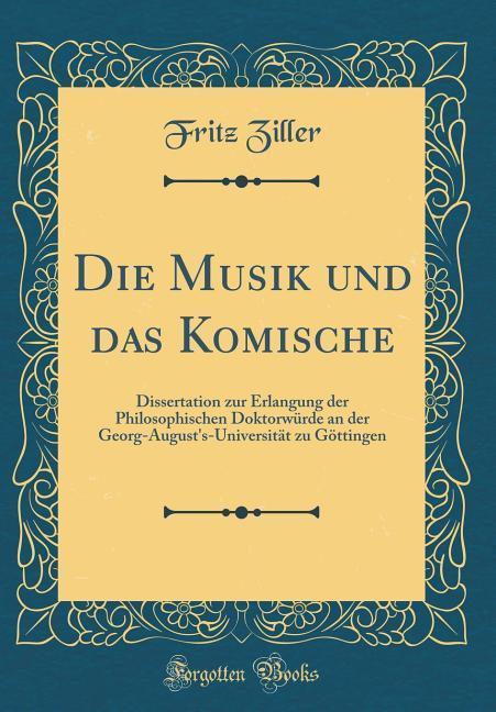 Die Musik und das Komische als Buch von Fritz Z...