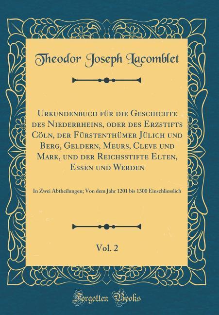 Urkundenbuch für die Geschichte des Niederrhein...