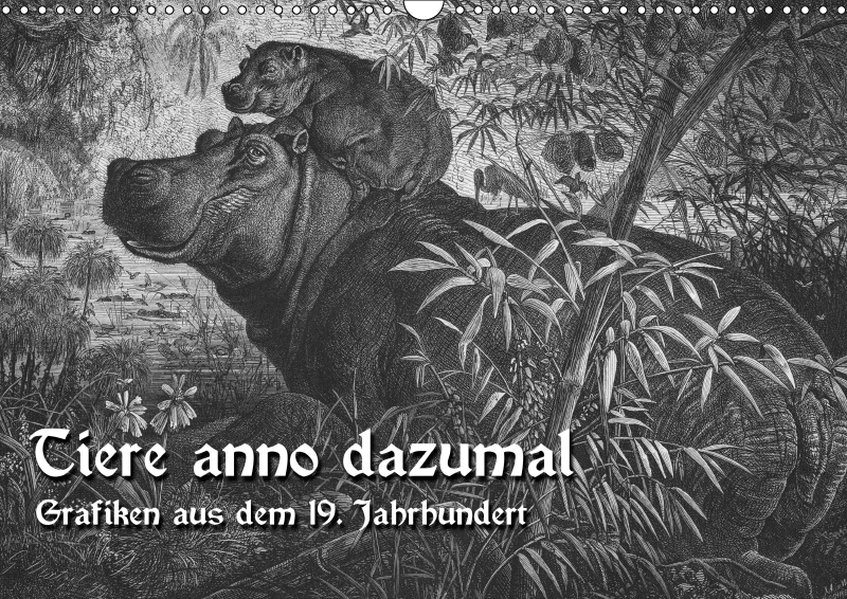 Tiere anno dazumal (Wandkalender 2019 DIN A3 quer)