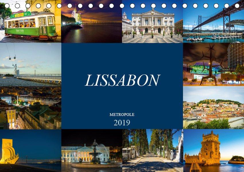 Metropole Lissabon (Tischkalender 2019 DIN A5 q...