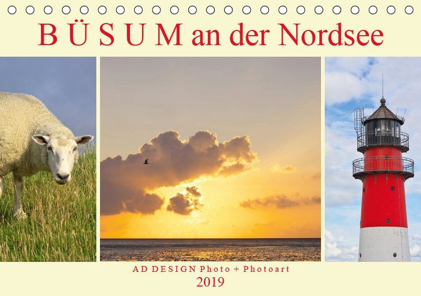 b sum an der nordsee tischkalender 2019 din a5 quer. Black Bedroom Furniture Sets. Home Design Ideas