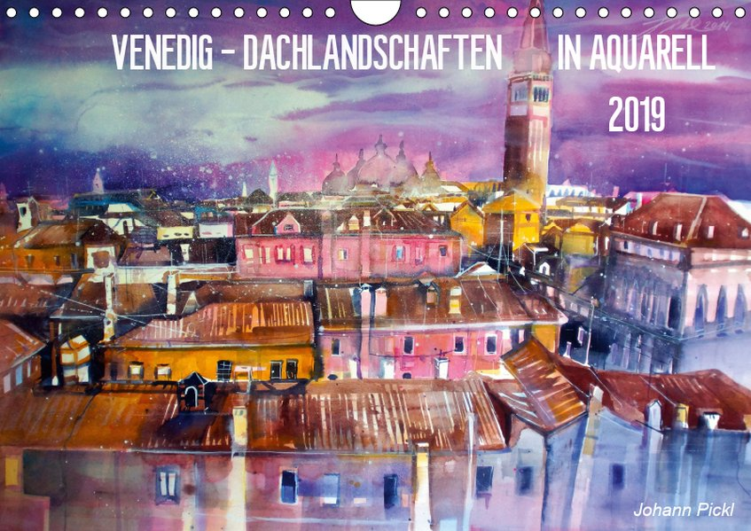 Venedig - Dachlandschaften in Aquarell (Wandkal...