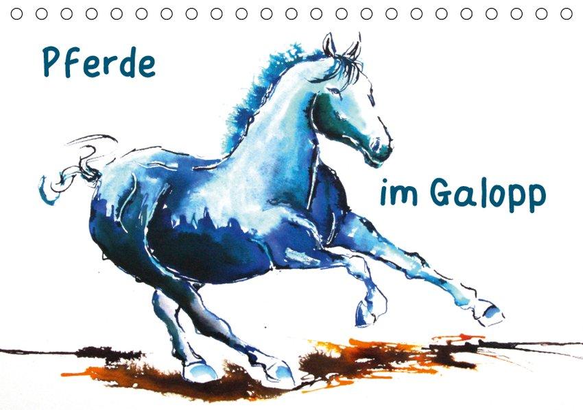 Pferde im Galopp (Tischkalender 2019 DIN A5 quer)
