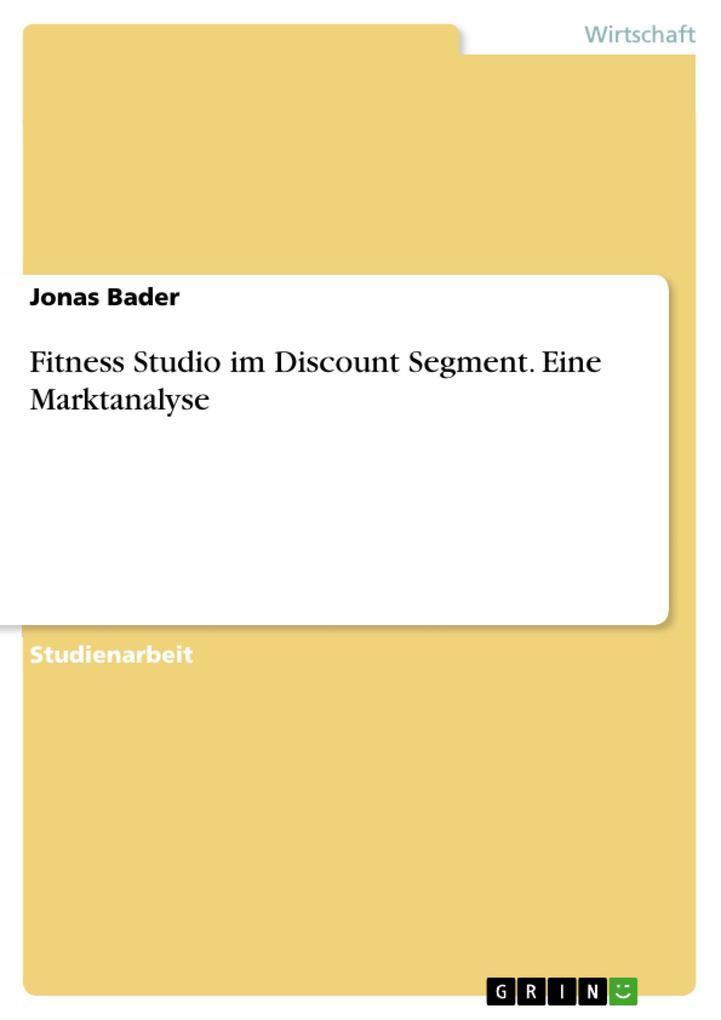 Fitness Studio im Discount Segment. Eine Markta...
