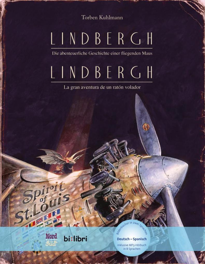 Lindbergh. Kinderbuch Deutsch-Spanisch mit MP3-Hörbuch zum Herunterladen als Buch (gebunden)