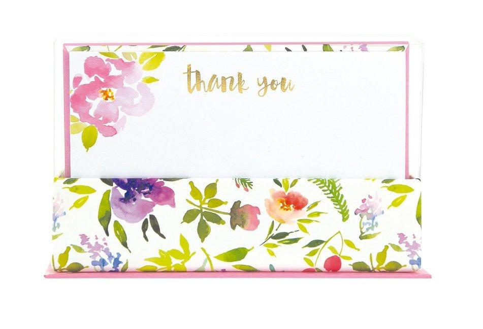 Flat Notes: Flower Love - Briefkarten mit Kuver...