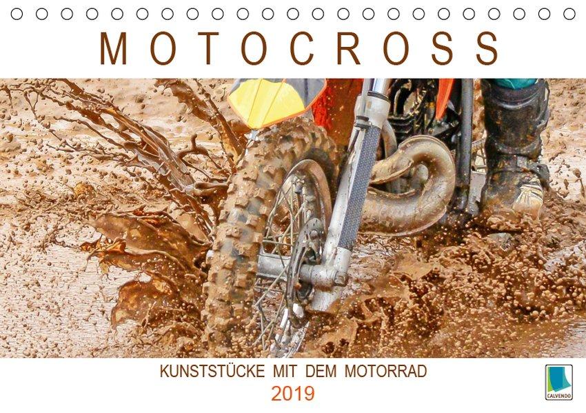 Motocross: Kunststücke mit dem Motorrad (Tischk...
