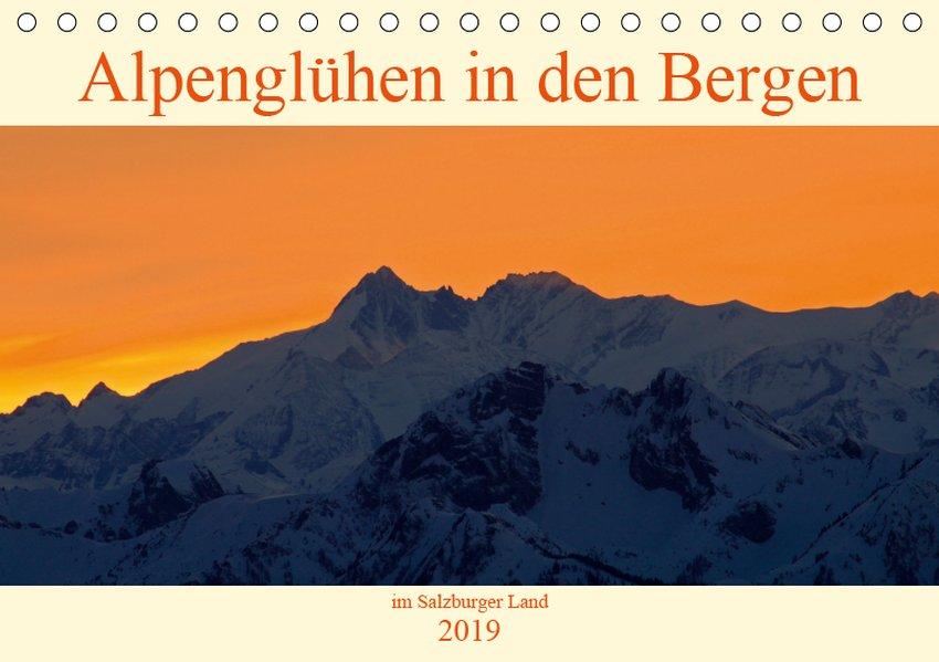 Alpenglühen in den Bergen im Salzburger Land (T...
