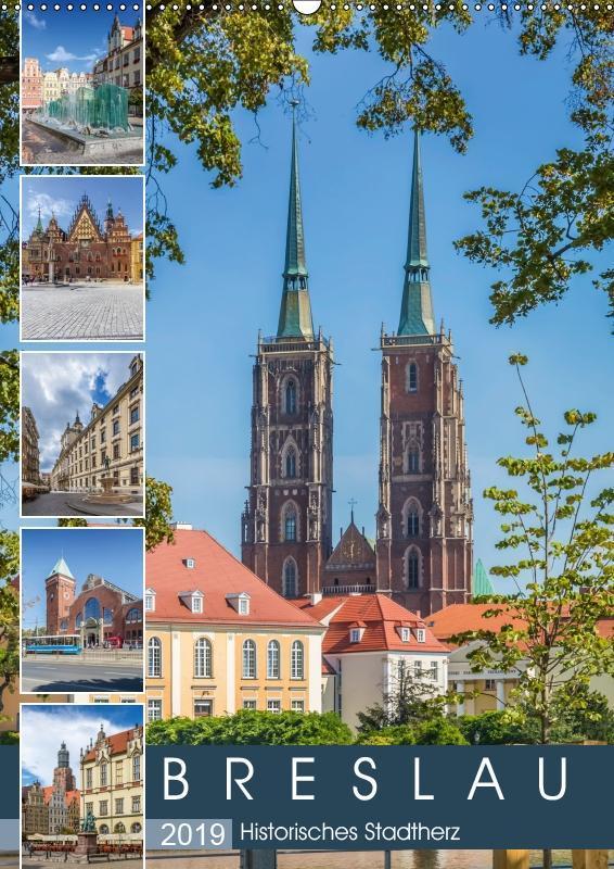 BRESLAU Historisches Stadtherz (Wandkalender 2019 DIN A2 hoch) als Kalender