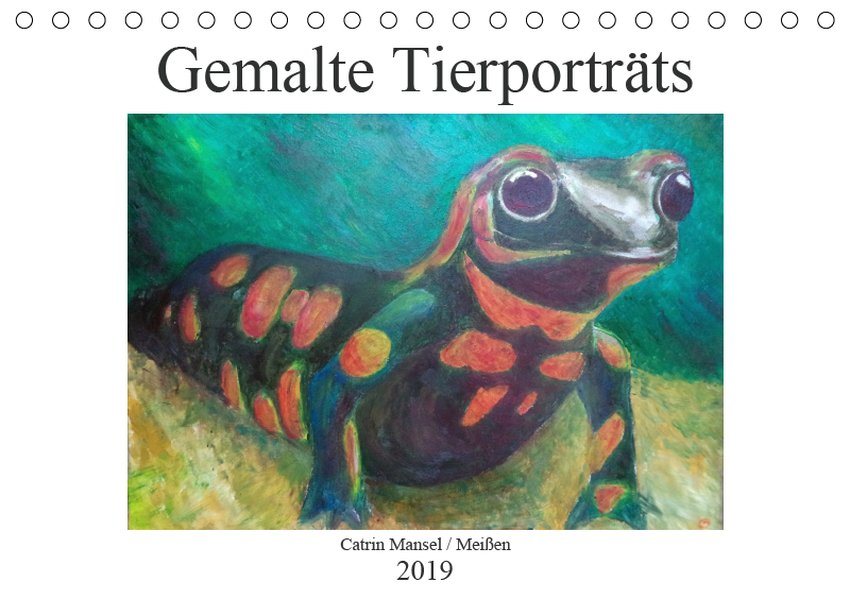 Catrin Mansel - Gemalte Tierporträts (Tischkale...