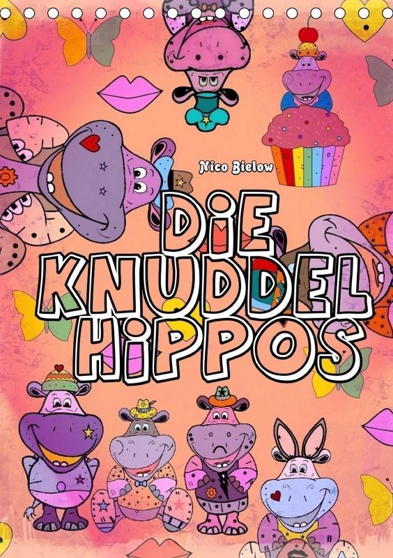Die Knuddel Hippos von Nico Bielow (Tischkalend...