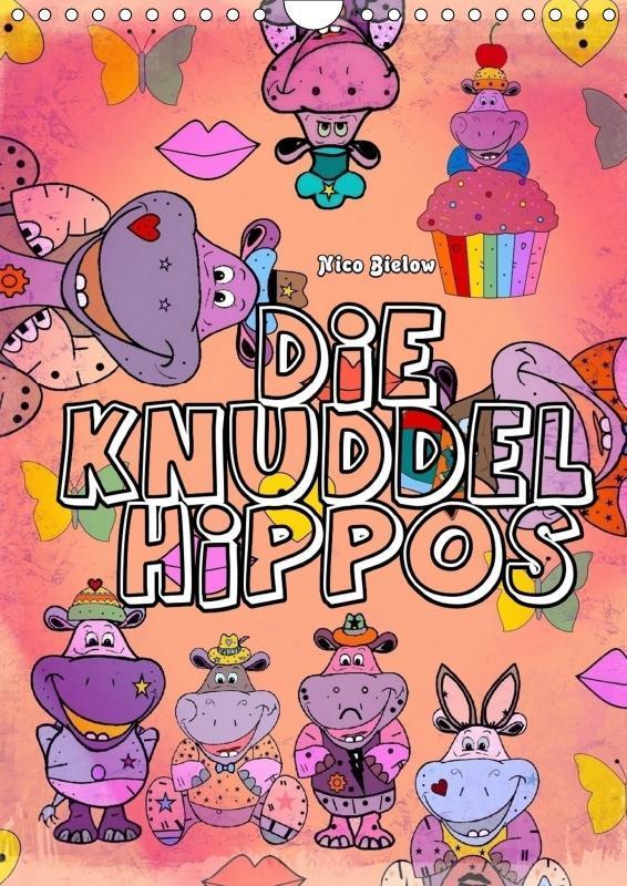 Die Knuddel Hippos von Nico Bielow (Wandkalende...