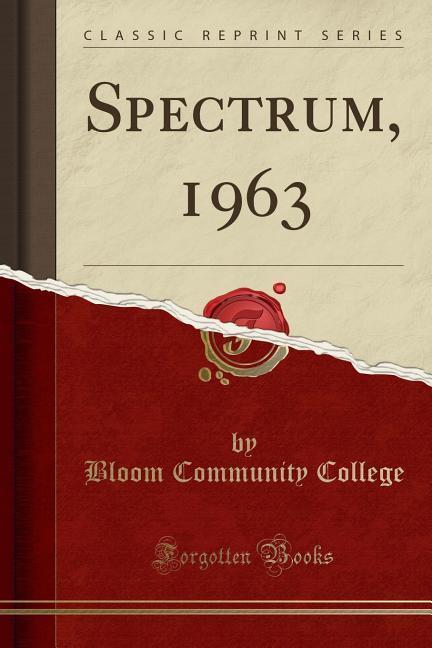Spectrum, 1963 (Classic Reprint) als Taschenbuc...