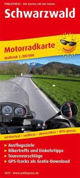 PublicPress Motorradkarte Schwarzwald als Buch von
