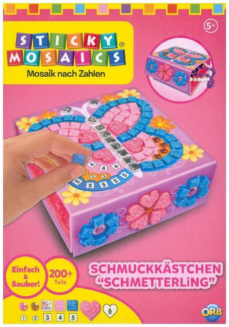 Sticky Mosaics Mini Schmuckkästchen Schmetterling
