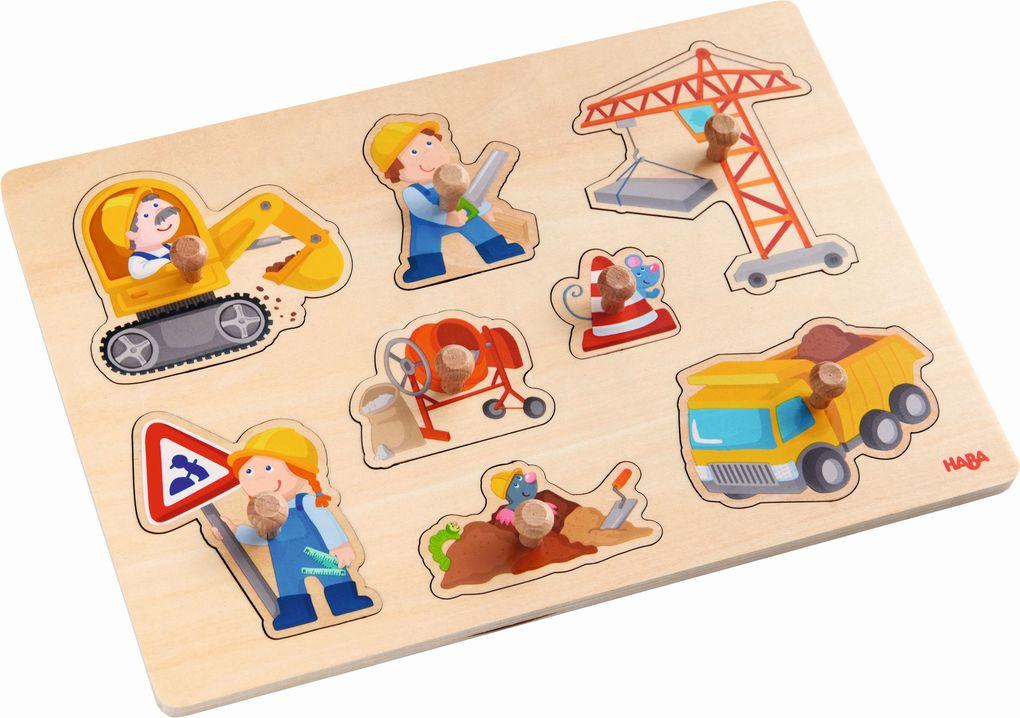 Greifpuzzle Baustellen-Welt 8 Teile als Spielwaren