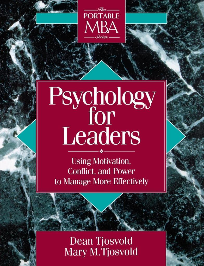 Psychology for Leaders als Buch von Dean Tjosvold