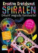 Kreative Kratzkunst: Spiralen: Set mit 7 Kratztafeln, Spirograph, Anleitungsbuch und Holzstift