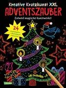 Kreative Kratzkunst XXL: Adventszauber: Set mit 24 Kratzbildern, Anleitungsbuch und Holzstift
