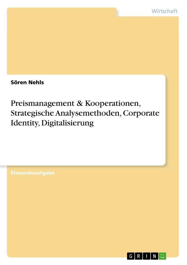 Preismanagement & Kooperationen, Strategische A...