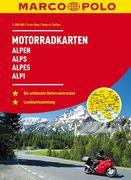MARCO POLO Motorrad-Karten Alpen 1:300 000